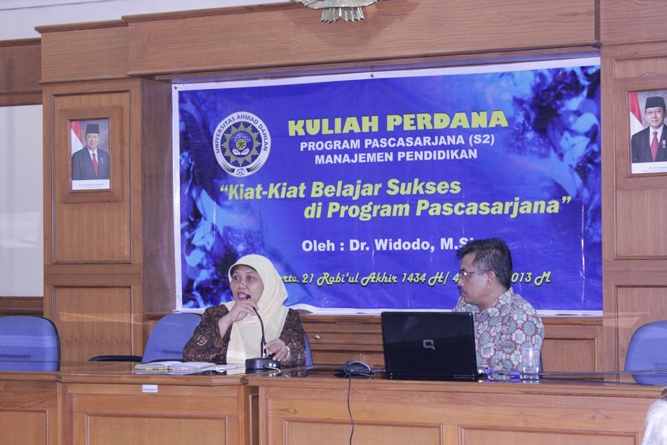 Kuliah Perdana Genap 2012/2013